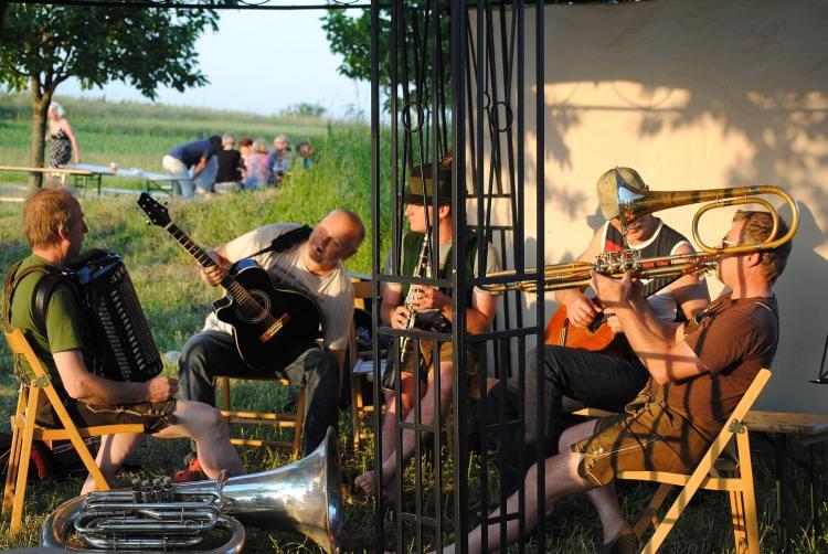 Musikanten beim Musikfest auf der Himmelsleiter
