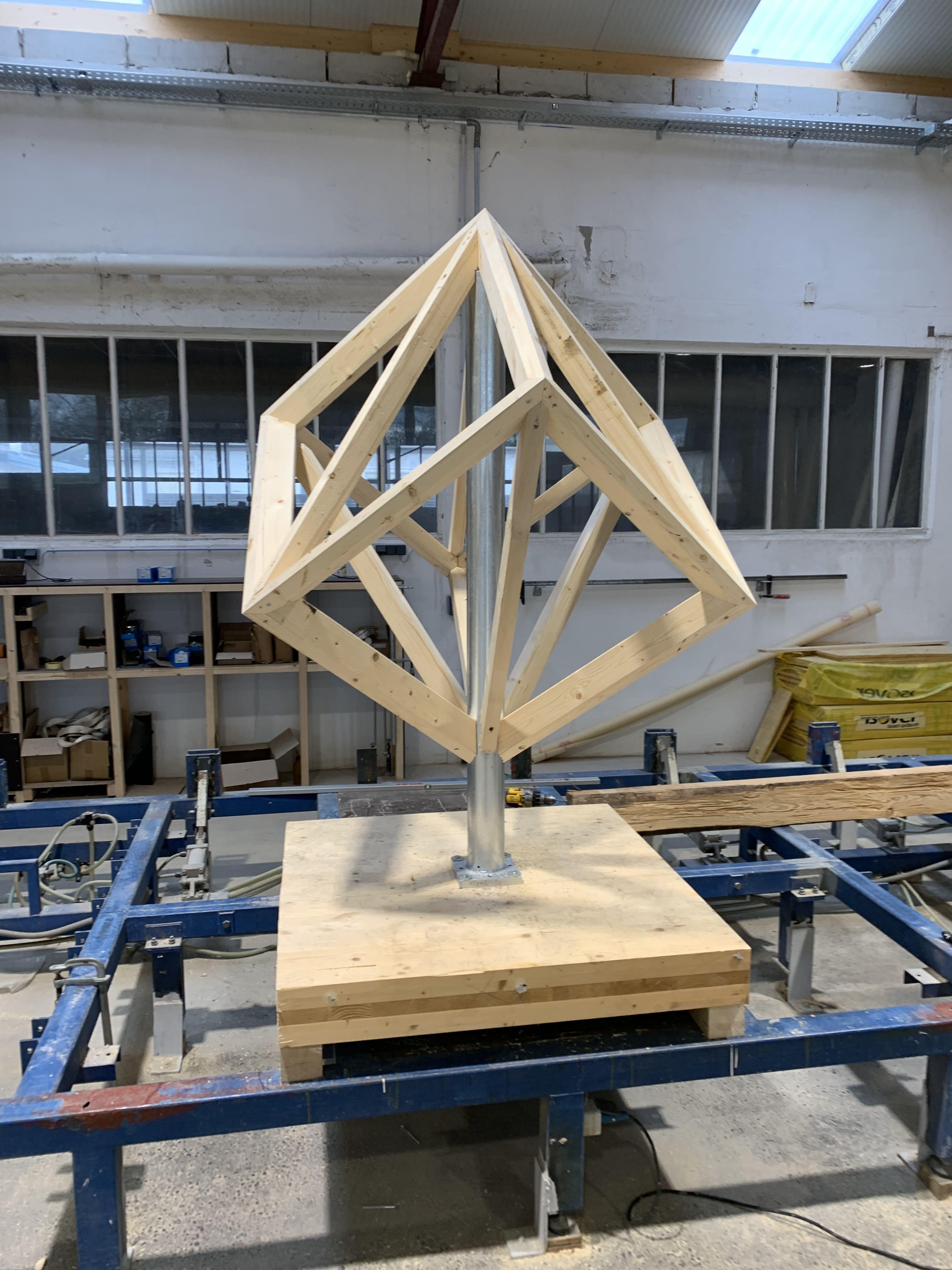 Tragekonstruktion Hexaeder